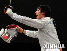 [组图]-亚运会男子佩剑 中国选手王敬之夺金