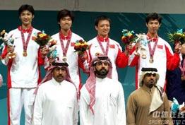 [组图]-亚运会男子花剑团体赛 中国队夺冠