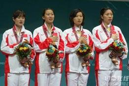 [组图]-亚运女子佩剑团体赛 中国力克韩国夺冠