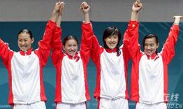 [组图]-女子重剑团体决赛 中国击败韩国夺冠