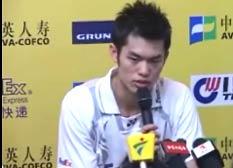林丹大师赛男单夺冠后赛后采访