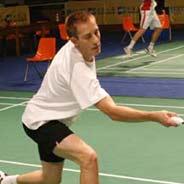 丹麦羽毛球队赛前热身