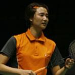 王晨备战中国羽球赛