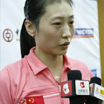 张宁赛后接受媒体采访