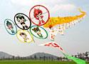 [组图]-徐州市退休职工放飞120米长风筝迎奥运