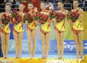 [组图]-北京奥运会艺术体操 集体全能颁奖仪式