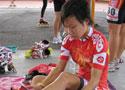 中国轮滑队员认真备战