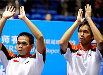 Kido, Setiawan pull off men's doubles title