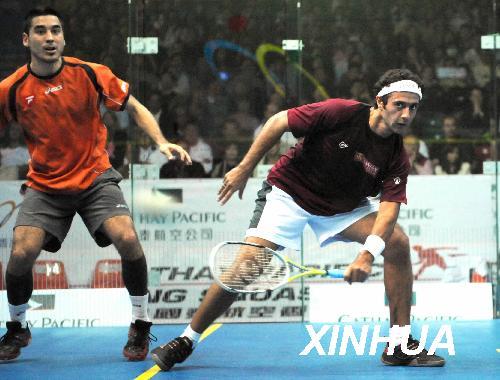 [组图]--中国香港壁球公开赛赛况 埃及法国决赛