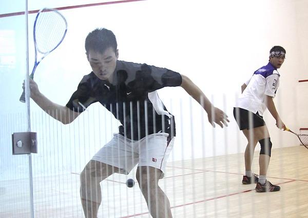 [组图]--全国壁球锦标赛 沪老将蔡平华夺得冠军