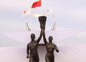 [组图]希腊马拉松圣火启动点火仪式在广场举行