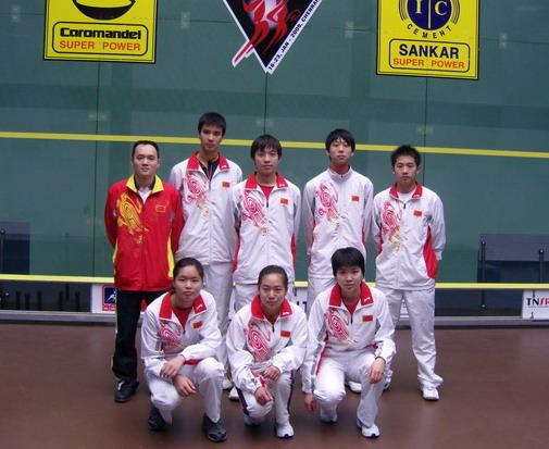 [组图]--首次参加壁球亚青赛 中国小将得到锻炼