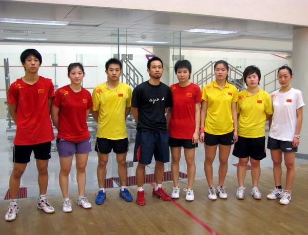 [组图]--国家壁球队赴香港 备战2009年国际比赛