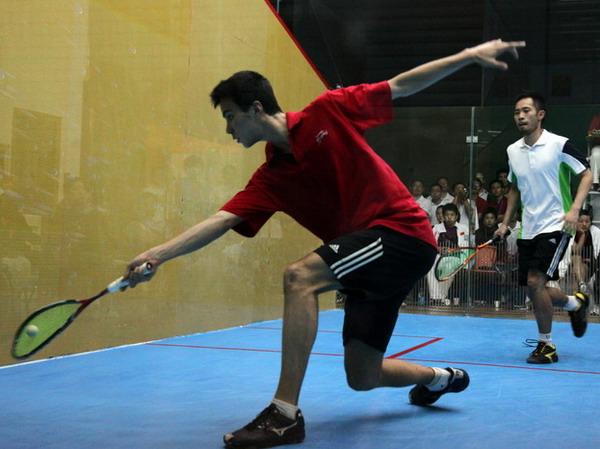 [组图]--壁球锦标赛 上海孟潇�FVS香港王伟恒