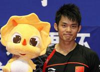 Dan Lin win the men's singles title
