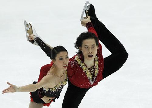 庞清 佟健日本站夺冠刷新自由滑总成绩两项纪录
