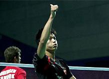 男单:林丹2-0约根森 第4次中国赛夺冠
