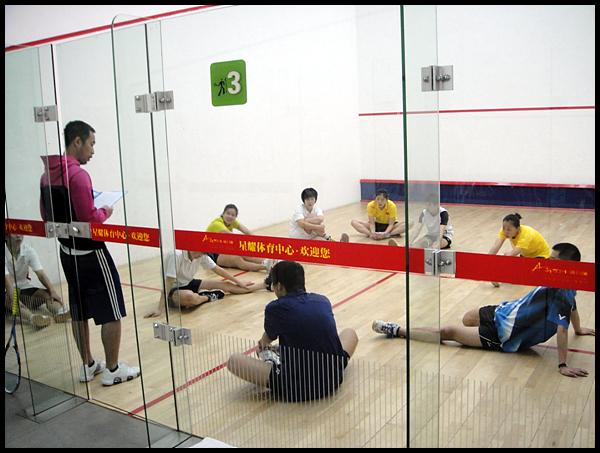 [组图]--备战亚运会 中国壁球队赴昆明高原集训
