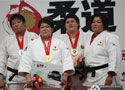 柔道世锦赛颁奖仪式