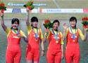 女子四人单桨中国夺冠