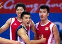 中国男排3比0沙特