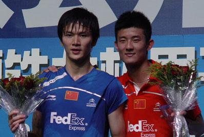 中国羽毛球公开赛:谌龙2-1击败鲍春来男单问鼎