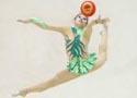 全国艺术体操个人冠军赛 广西队运动员预赛第一