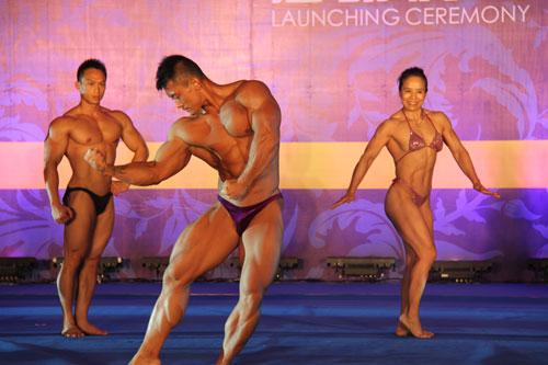 冠名级的健身健美比赛;