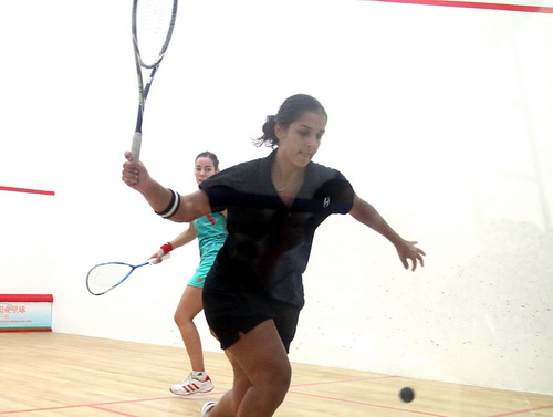 职业壁球中国公开赛 埃及奥妮雅VS英国选手嘉菲
