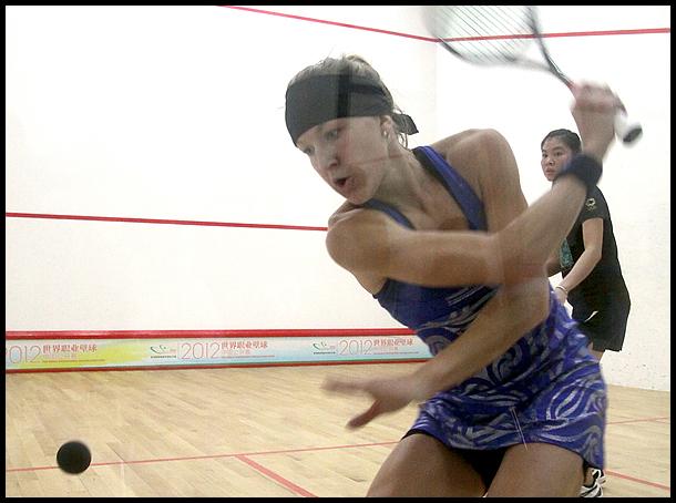 2012职业壁球中国公开赛正赛 李东锦VS凯西.布朗