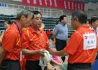 [组图]二届老健会乒乓球交流活动 教练员指导战术