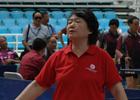 [组图]二届老健会乒乓球交流活动  憾失一球表情