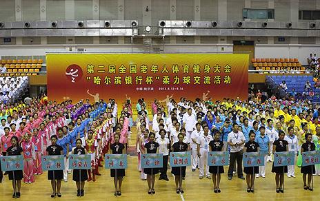 全国老健会柔力球活动哈市开幕 参与人数超过千人