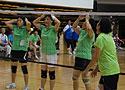 [组图]老健会气排球交流活动开始 现场赛况激烈