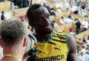 世锦赛男子100米预赛 博尔特轻松晋级半决赛