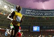 8月11日田径世锦赛图片精选:闪电下的闪电