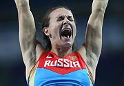莫斯科田径世锦赛女子撑杆跳:伊辛巴耶娃夺冠
