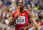 田径世锦赛:美国队夺得男子4x400米决赛冠军