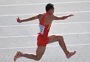 田径世锦赛三级跳远决赛 董斌获得男子第九名