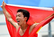 南京亚青会男子3000米决赛 中国选手刘洪亮夺冠
