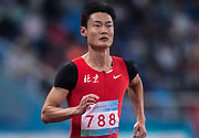 [组图]-男子100米预赛 张培萌小组第二晋级复赛