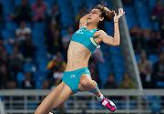十二运会女子撑杆跳 浙江队李玲破亚洲纪录夺冠