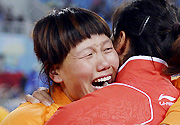 十二运会田径女子铁饼决赛 四川选手谭建爆冷夺冠