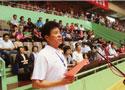 [组图]运动员代表宣读倡议书