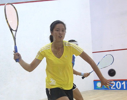 全国壁球(团体)锦标赛 女团决赛上海体院VS香港