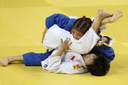 柔道女子57公斤级:广东队选手卢童娟夺冠