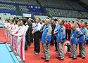 [组图]二届老健会台球交流活动开幕 队伍排列整齐