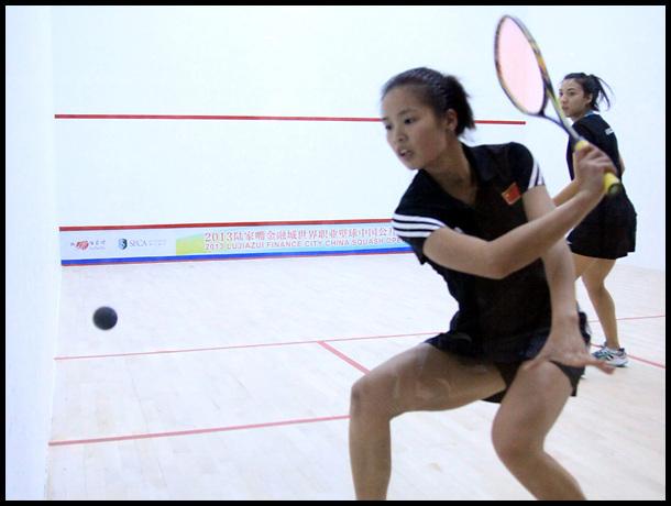 壁球中国公开赛外围赛 顾金钥VS马拉西亚迪莉娅