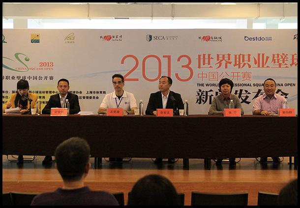 职业壁球中国公开赛在上海盛力瑛才体育中心开幕