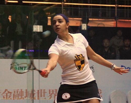 壁球中国公开赛 埃及艾慧莉莉VS马来西亚刘薇雯